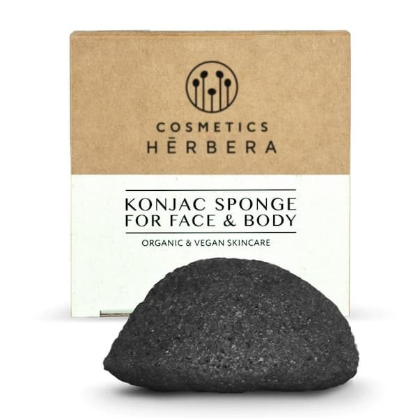 Eponge Konjac au charbon de bambou